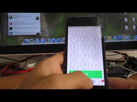 iOS 7.0.2 Lock Screen glitch
