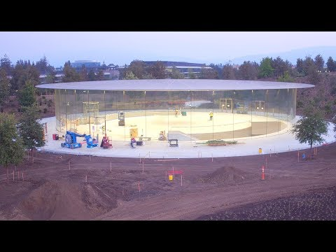 APPLE PARK: Late August 2017 Construction Update
