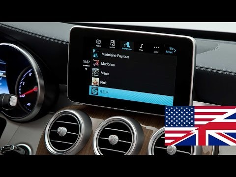 Apple CarPlay demonstration in the 2014 Mercedes Benz C-Class (Car Show Geneva 2014)