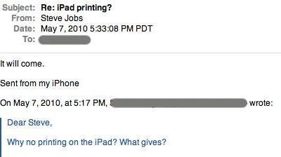 Drucken mit Apple iPad bald möglich?