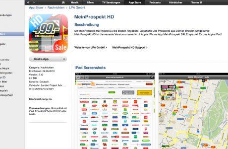 Nummer 1 iPad App meinprospekt HD jetzt im App Store verfügbar 11