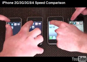 Speed Test iPhone 4, iPhone 3GS, iPhone 3G, iPhone 2G