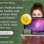 Für Studenten bis 7.9. : Apple Mac Rechner kaufen und iPod touch kostenlos kassieren