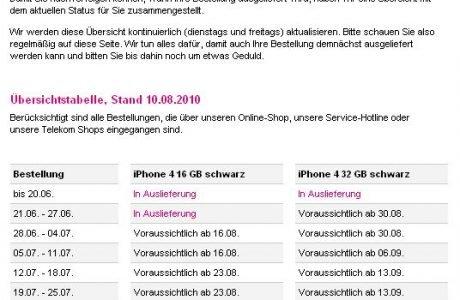iPhone 4 Lieferung bei Telekom Bestellung