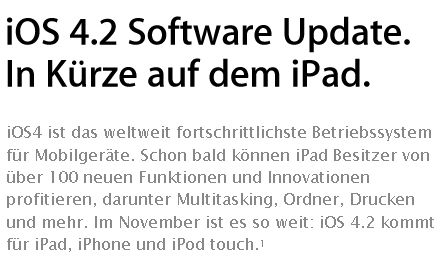Download iOS 4.2 Beta für iPad, iPhone 4, iPhone 3GS, iPhone 3G, iPod touch verfügbar