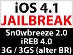iOS 4.1 Jailbreak iPhone 3G / iPhone 3GS (old Bootrom): Download Sn0wbreeze 2.0 & iREB 4.0 ab Mittwoch