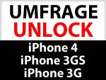 Unlock Umfrage iPhone 4, iPhone 3GS, iPhone 3G