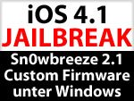 Download Sn0wbreeze 2.1 - iOS 4.1 Custom Firmware unter Windows