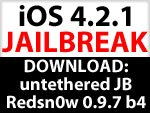 Download Redsn0w 0.9.7 b4 - Untethered iOS Jailbreak 4.2.1 für iPhone 4, iPad & iPod Touch - Mac OS X only