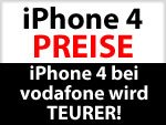 Vodafone iPhone 4 wird teurer