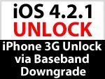 iPhone Unlock mit Baseband Downgrade 6.15.00 nach 5.13.04 - nur für iPhone 3G mit 5.08 Bootloader