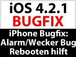 iPhone Wecker & Alarm Bug durch Reboot beheben
