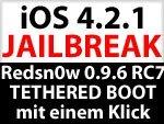 Download Redsn0w 0.9.6 RC7 für Windows & Mac OS X - Schneller tethered Boot mit einem Klick