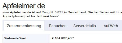 Verkauf apfeleimer.de - Preisvorstellung!