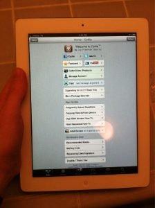 iPad 2 Jailbreak von comex auf weißem Verizon iPad 2