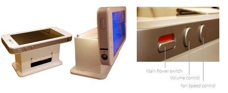 der iphone 4 supertisch mit led fernseher