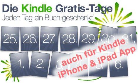 Jeden Tag gratis eBooks für Kindle Reader & Kindle iPhone & iPad App