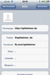 Gegenbeweis: Facebook bereits in iOS 5.0?