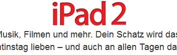 iPad 2 zum Valentinstag?