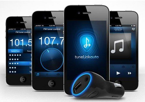 tunelink iphone musik per bluetooth ans autoradio fm transmitter. Black Bedroom Furniture Sets. Home Design Ideas