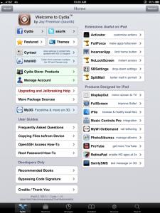 iPad 3 Jailbreak Cydia
