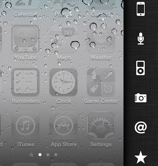 Deck Cydia Tweak - iPhone Schnellstart Sidebar