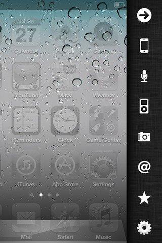 Deck Cydia Tweak - iPhone Schnellstart Sidebar