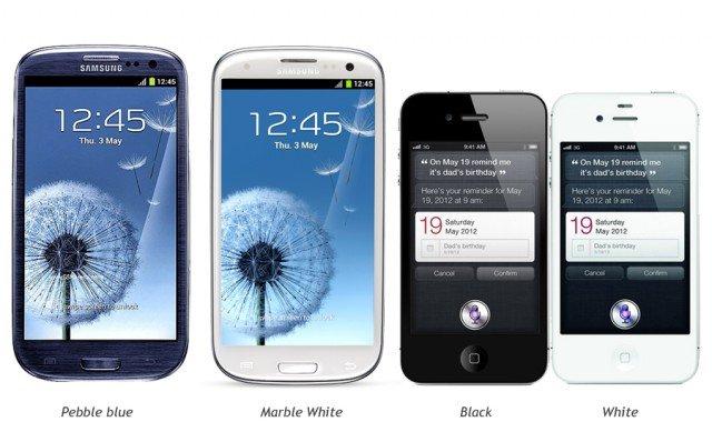 Samsung Galaxy S3 jetzt in blau & weiß, also keine schwarzen Ränder