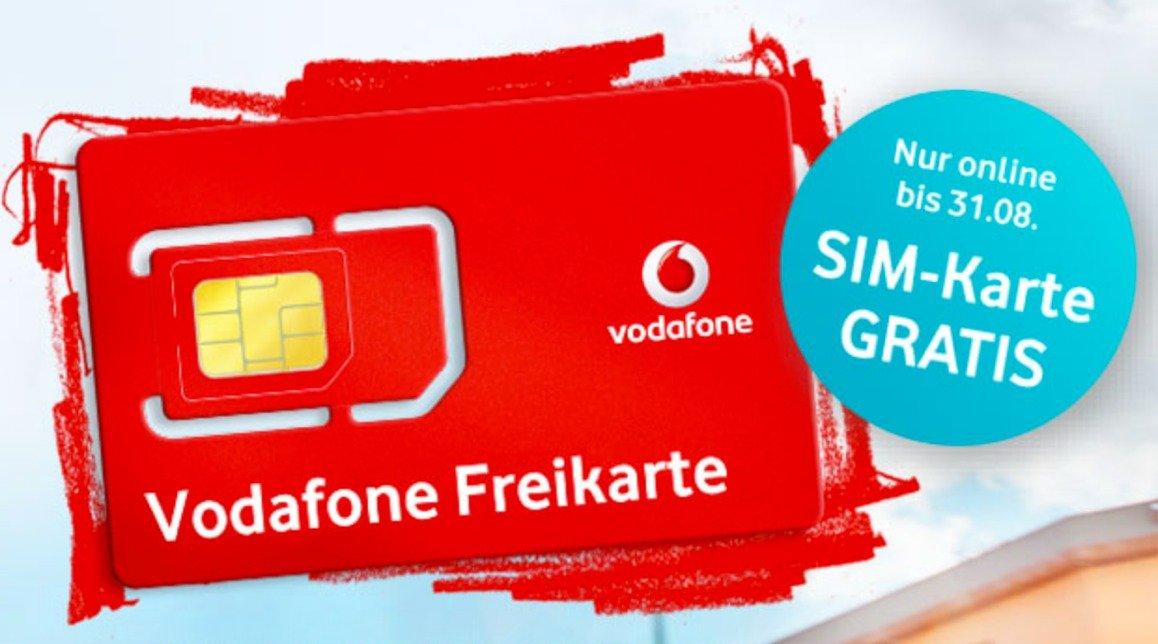 Vodafone Sim Karte Bestellen Kostenlos.Endspurt Kostenlose Vodafone Callya Freikarte Nur Noch Bis 31 08