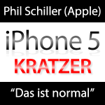 Kratzer im neuen iPhone 5 normal?