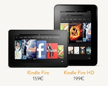 Amazon Deutschland: Kindle Fire HD, Kindle Fire und neuer Kindle zum Kampfpreis