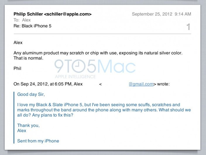 Phil Schiller zu iPhone 5 Kratzern