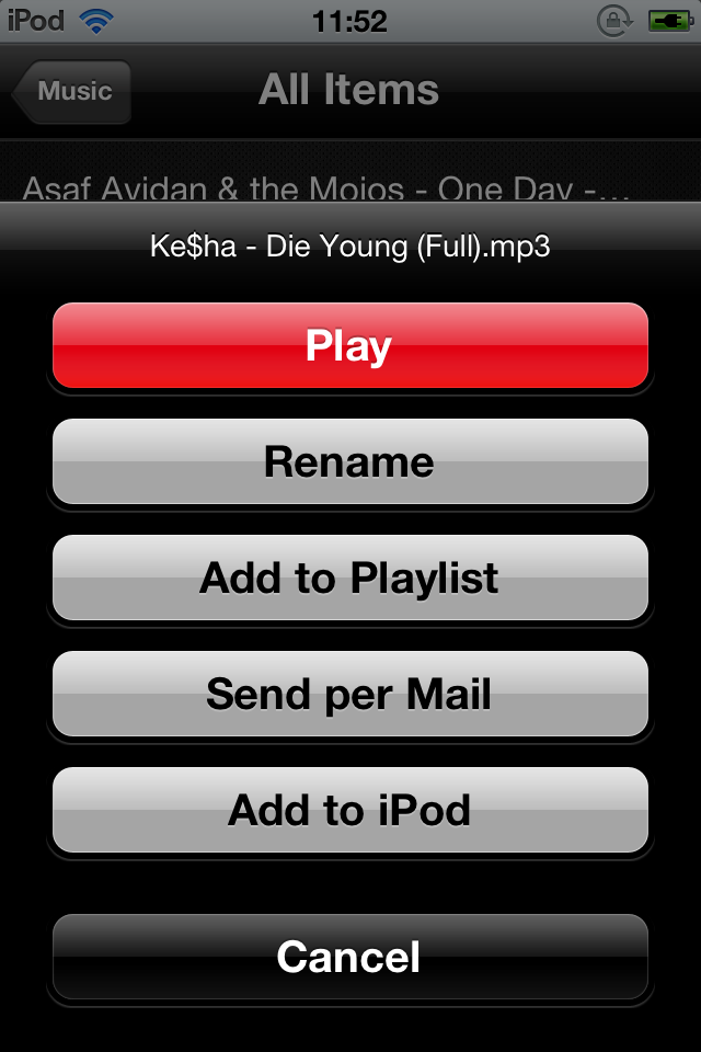 how to add youtube videos to mp3 ios