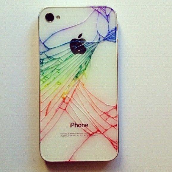 Kaputtes iPhone wird bunt!