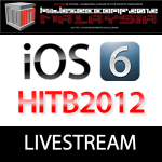Pod2g, Musclenerd & Co. Livestream Hackinthebox HITB2012CON
