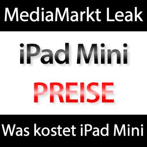 Was kostet das iPad Mini? Preise von MediaMarkt?