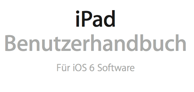 Download Handbuch iPad Mini & iPad 4 Bedienungsanleitung!