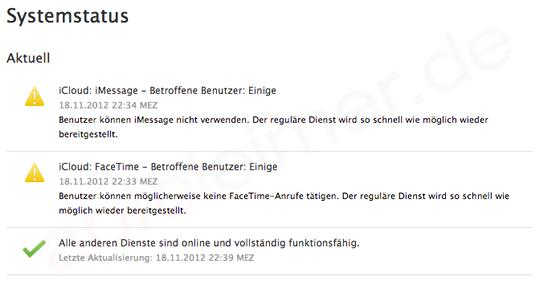 iMessage & Facetime down! iCloud Probleme jetzt offiziell von Apple bestätigt! 1