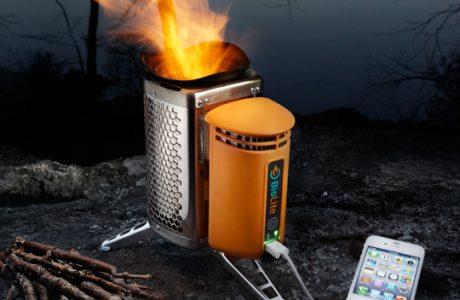 iPhone laden mit brennendem Holz? iPhone Lade-Ofen Biolite Campstove! 1