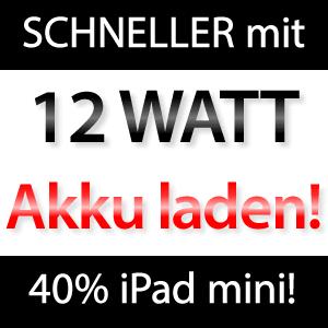iPad Akku schneller laden!