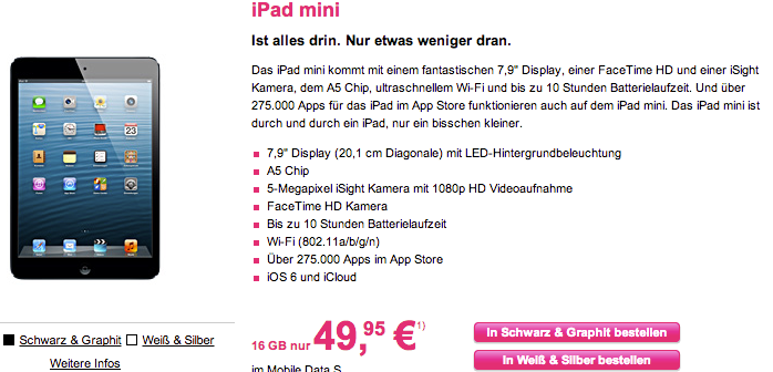 iPad mini LTE Telekom