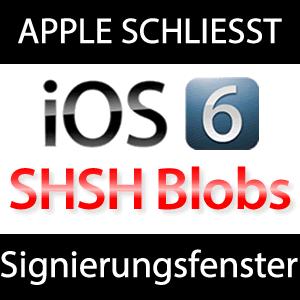 iOS 6 SHSH Fenster geschlossen!