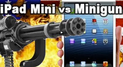 Video iPad Mini vs. Mini Gun!
