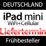 Liefertermin iPad mini Cellular
