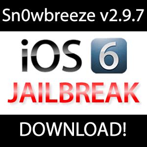 Sn0wbreeze v2.9.7 Download: tethered iOS 6.0.1 Jailbreak (Windows)