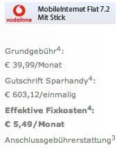 Vodafone 5GB Internet für 5,49 EUR