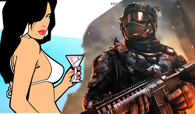 Modern Combat 4 Zero Hour und Grand Theft Auto GTA Vice City