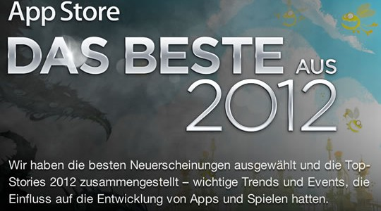 Beste Apple App Store Apps 2012!