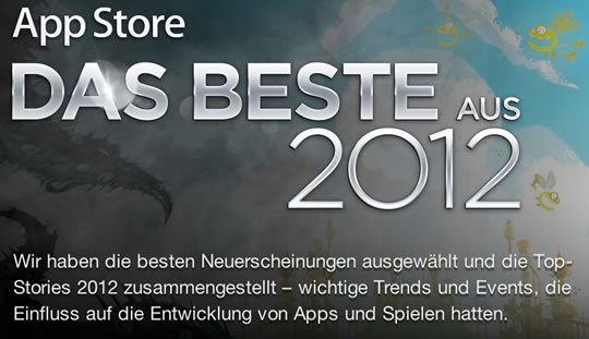 das beste aus 2012 apple zeigt die app store hits 2012. Black Bedroom Furniture Sets. Home Design Ideas