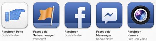 Facebook Apps für iOS